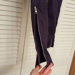 J Brand Jeans - J BRAND DARK GRAY ZIPPER LEG COTTON SKINNY JEANS